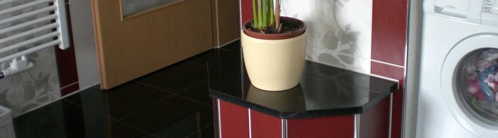 Fußböden und Ablagen    Alles aus einem Material  verschiedene Stärken verfügbar